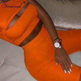 Conjunto de dos piezas para mujeres de Color neón simenular chándales casuales de un hombro recortados de la parte superior de l