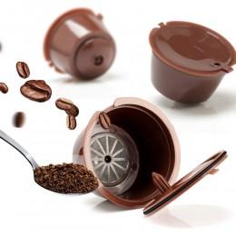3 uds. Reutilizable Nescafe Dolce Gusto café cápsula filtro taza tapas recargables cuchara cepillo filtro cestas vaina suave sab