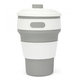 Taza plegable caliente de silicona portátil de silicona telescópica para beber taza de café plegable multifunción plegable de si