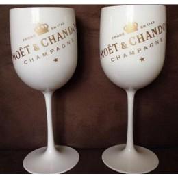 Plástico vino Fiesta blanco champán Copa MOET vino moet vidrio una pieza