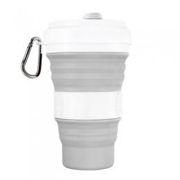 550ml plegable de silicona de 5 colores portátil de silicona telescópica beber taza de café plegable taza de sílice con tapas de
