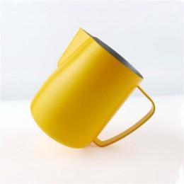 Jarra de leche TTLIFE 0,3-0.6L jarra de espuma de acero inoxidable tire de la flor taza Espumador de café y leche Latte arte her