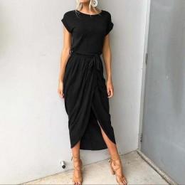 2019 vestidos de fiesta de talla grande de verano para mujer vestido largo Maxi Casual Delgado elegante vestido Bodycon vestidos