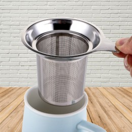 Infusor de té de malla de acero inoxidable reutilizable, colador de té, tetera, hoja de té, filtro de especias, accesorios de co