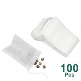 Bolsitas de té 100 unids/lote para Infusor de bolsitas de té con cuerda sello de curación 5,5x7 CM bolsitas de papel de filtro b