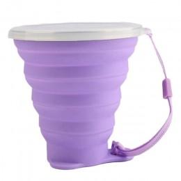 270ML de viaje de acero inoxidable taza de silicona plegable retráctil tazas telescópica plegable tazas de café al aire libre de