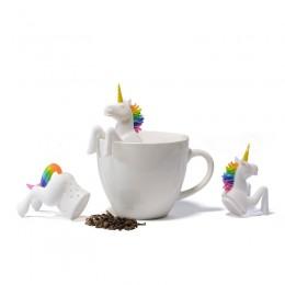 Bolsa de té hoja de grado alimenticio Filtro de especias a base de hierbas 1 Uds. Coladores de Infusor de té forma de unicornio