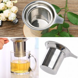 Infusor de malla de té Filtro de té reutilizable tetera de acero inoxidable hoja de té suelta Filtro de especias accesorios de c