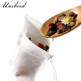 Unibird 100 unids/set bolsas de té desechables telas no tejidas Infusor de té con hilo de filtro de sello de curación de papel p