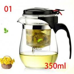 Tetera de vidrio resistente al calor de alta calidad juego de té chino kung fu hervidor de agua cafetera cómoda tetera de oficin