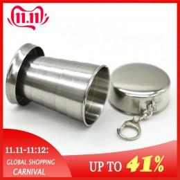 Vaso retráctil plegable de acero inoxidable taza de veintiuno