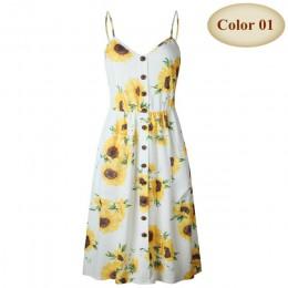 Nuevo Boho fuera del hombro fiesta playa vestido de sol espagueti vestidos largos más tamaño verano mujeres botón decorado vesti