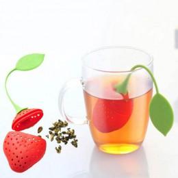 Envío Directo 7 colores hoja dulce Infusor de té de silicona reutilizable colador bandeja gota novedad té bola hierbas especias