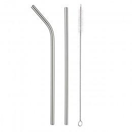 2/4 Uds reutilizable pajilla de metal de 304 de acero inoxidable paja al por mayor con cepillo de limpieza accesorio fiesta
