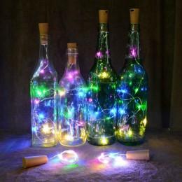 Hoomall 9 colores LED botella de vino corcho luces de cable Cadena de luz para decoración de fiesta de boda 1 M/2 M/3 M tapón de