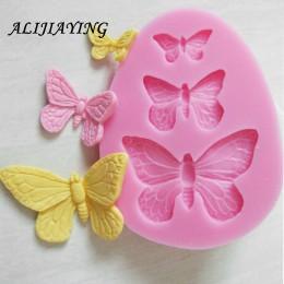 1 Uds. Sugarcraft mariposa moldes de silicona molde fondant herramientas de decoración de pasteles moldes de chocolate molde de