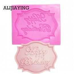 M0070 Feliz cumpleaños forma de letra molde de silicona pastel fondant de chocolate herramientas de decoración molde de cupcake