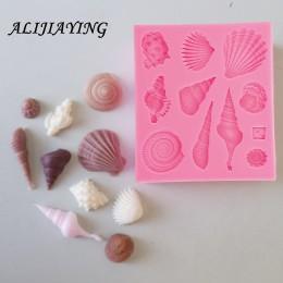 1 Uds. DIY hermosa concha estrella de mar concha de mar molde de silicona utensilios para decoración de tortas con fondant jabón