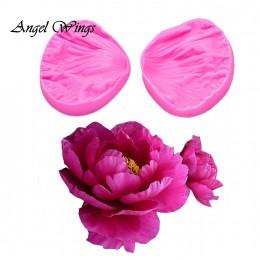 3D peonía flor pétalos relieve silicona molde alivio utensilios para decoración de tortas con fondant Chocolate Gumpaste moldes