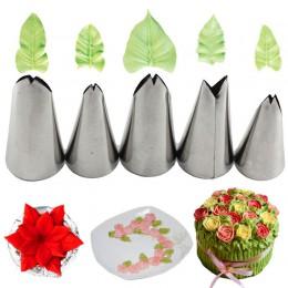 Juego de 5 uds. De Mujiang, boquillas de acero inoxidable para glaseado, boquillas, puntas de pastelería para decorar pasteles,