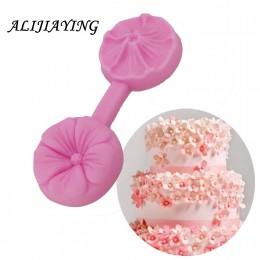 Flor silicona molde Sugarcraft en relieve utensilios para decoración de tortas con fondant Fimo arcilla caramelo gelatina moldes