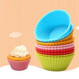 12 sztuk Muffin para mi silikonowe ¿pieczenia ciastko de statki para mi ¿pieczenia ciasto dekorowanie narzędzia ¿