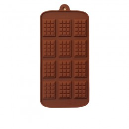 De silicona DIY Chocolate molde para gofres molde para hornear flan herramientas bandeja de hielo Decoración de Pastel horno dom