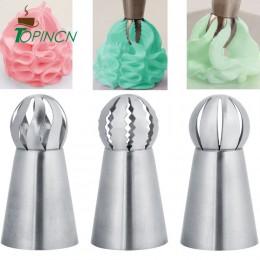 3 unids/set ruso flor hielo tuberías boquillas consejos pastel decoración herramientas de cocina de pastelería de hornear repost