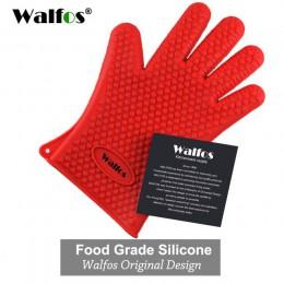 WALFOS 1 pieza de grado alimenticio resistente al calor de silicona cocina de barbacoa guante de cocina guante para parrilla gua