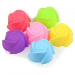 6 uds molde de silicona corazón Cupcake jabón silicona molde para pasteles y magdalenas para hornear antiadherente y resistente
