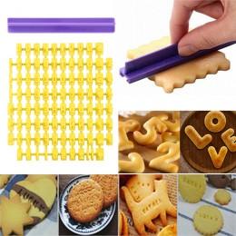 Alfabeto número letra hornear molde 3D galleta estampadora de estampillas cortador pastel Fondant moldes DIY molde amarillo cort