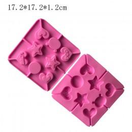 Corazón redondo silicona molde para paletas flor caramelo chocolate moldes pastel forma de decoración hornear utensilios oso lol