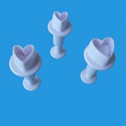 15 tipos moldeado fondant cortador plástico pastel molde DIY utensilios para decoración de tortas con fondant émbolo pasta azúca