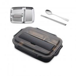 Lonchera de acero inoxidable 304 con cuchara a prueba de fugas caja de comida Bento juego de vajilla microondas contenedor de al
