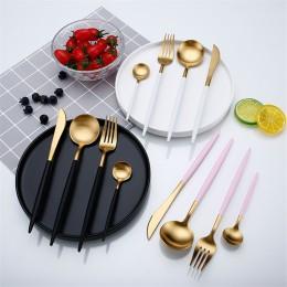 Oro rosa juego de vajilla cubertería de acero inoxidable comida occidental vajilla de lujo tenedor cuchara cuchillo Set de Cubie