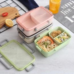 Nueva caja de almuerzo de microondas TUUTH, entramado independiente para caja Bento para niños, contenedor de comida Bento a pru