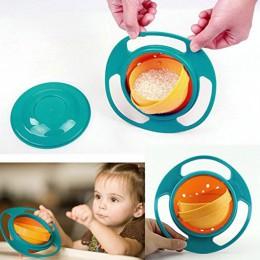 360 rotar tazón de plástico a prueba de derrames para bebés Aprendizaje de alimentación de juguete platos de entrenamiento alime