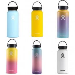 Botella de agua de acero inoxidable botella de agua con aislamiento al vacío botella térmica portátil de viaje de boca ancha 32