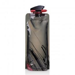 700mL reutilizable deportes viajes portátil plegable bebida botella de agua hervidor de agua botella de agua para deportes de ex