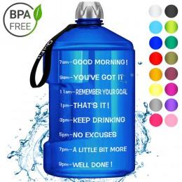 QuiFit 3.78L 2.2L 1.3L claro gran galón de botellas de agua potable plástico gran capacidad para gimnasio Fitness turismo libre