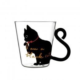 Justdolife 8,5 oz lindo gato creativo leche taza de café vaso de agua taza jarro de té taza de dibujos animados Kitty taza para