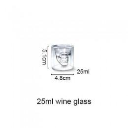 3 tamaños de dos maneras de disparo de cristal transparente cabeza de cráneo copa de vidrio para whisky vino Vodka Bar Club cerv
