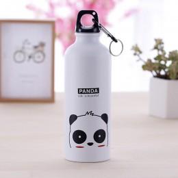 Botella de agua Linda para niños de 500ML Botella de bebida deportiva portátil Botella de acero a prueba de fugas con tapa de ga