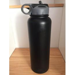 Nuevo frasco aislado de acero inoxidable botella de boca ancha vaso viaje taza enfriador de café con tapa de paja 18/32/40oz con
