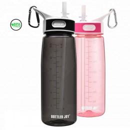 bottled joy 0.7L con bebida de paja Tritan bpa para niños botellas de filtro de agua para niños manejar mi botella de plástico d