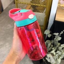 500ml al aire libre botella deportiva para niños BPA libre con paja Vida Saludable senderismo botella para escalada para agua mi