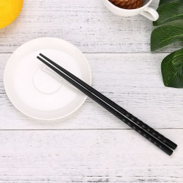 1 par de palillos chinos japoneses aleación antideslizantes palillos de comida de Sushi palillos de regalo chinos palillos japon