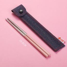 Palillos chinos de Metal 304, palillos de acero inoxidable, palillos portátiles de viaje, palillos reutilizables para comida, Su