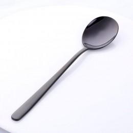El comprador estrella 8 colores de cuchara de acero inoxidable con mango largo hielo cuchara para té café cocina cucharas, vajil