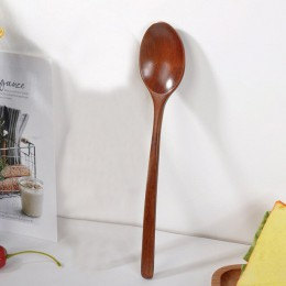 Cuchara de madera Natural de alta calidad Tenedor de bambú cocina sopa de comedor té miel utensilios de café utensilios de sopa-
